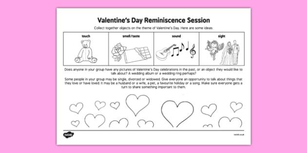 Elderly Care Valentine's Day Reminiscence Session - Elderly, Reminiscence, Care Homes, Valentine's Day