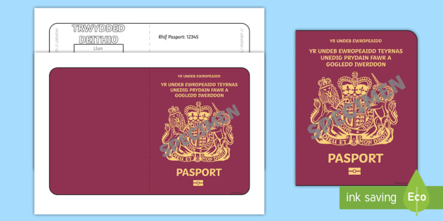 British Passport Template Welsh Translation - roleplay, language