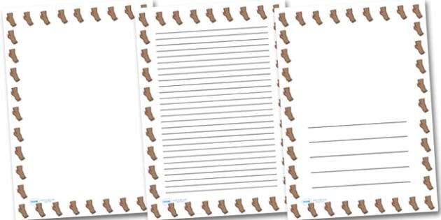 Ankle Portrait Page Borders- Portrait Page Borders - Page border, border, writing template, writing aid, writing frame, a4 border, template, templates, landscape