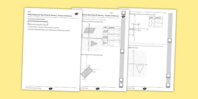 Year 6 Maths Assessment Term 2: Geometry - Position and Direction - year 6, maths, assessment, term 2, geometry, position, direction
