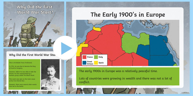 Why Did the First World War Start? PowerPoint - First World War KS2, great war, world war one, Franz Ferdinand,