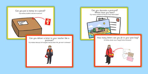 Challenge Cards Post Office Polish Translation - polish, challenge cards, post office