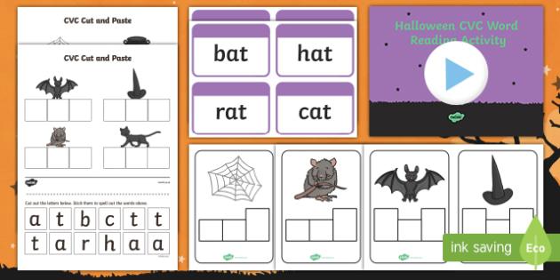 Halloween Themed CVC Words  Activity Pack