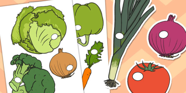 Vegetable Shop Role Play Cut-Outs - roleplay, shopping, cutouts
