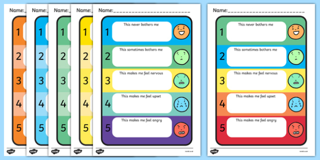 Trigger Chart with Simple Faces - trigger chart, sen trigger chart, what bothers me chart, self assessment chart, self assessment trigger chart, poster