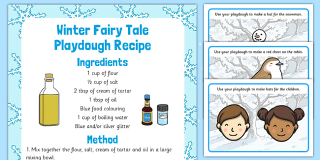 Winter Playdough Recipe and Mat Pack - winter, playdough, recipe, mat, pack