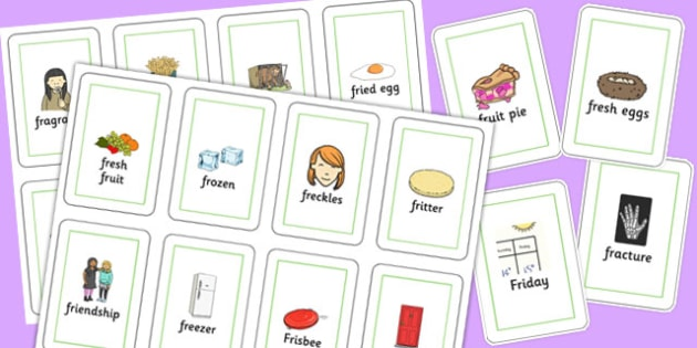 Two Syllable FR Flash Cards - two syllable, fr, flash mats, flash, mats, fr sound
