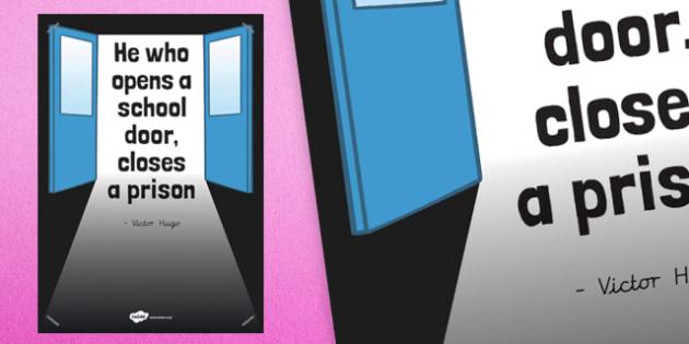He Who Opens a School Door Poster - poster, display, school