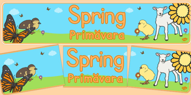 Spring Display Banner Romanian Translation - banners, displays