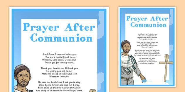 Prayer After Communion Display Poster - irish, gaeilge, prayer, after, communion, display poster, display, poster