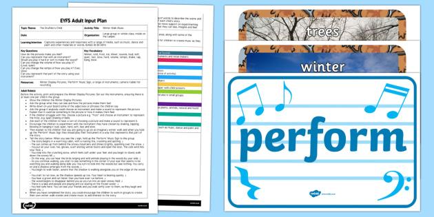 EYFS Winter Walk Music Adult Input Plan and Resource Pack