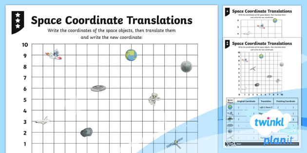 PlanIt Y4 Position and Direction Translations Home Learning Tasks - Y4 Position and Direction, coordinates, translations.