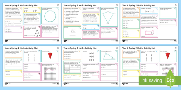Year 6 Spring 2 Maths Activity Mats - Year 6 Maths Activity Mats Spring term, home work, home learning, morning activities, practise, sats