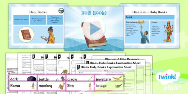 RE: Hinduism: Holy Books Year 3 Lesson Pack 5