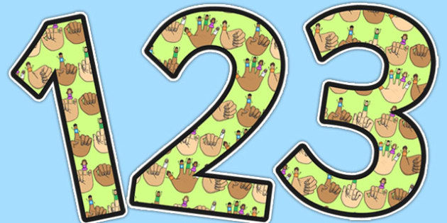 Tommy Thumb Themed Display Numbers - tommy thumb, display, numbers