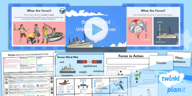 PlanIt - Science Year 5 - Forces Lesson 1: Balanced and Unbalanced Forces Lesson Pack - planit