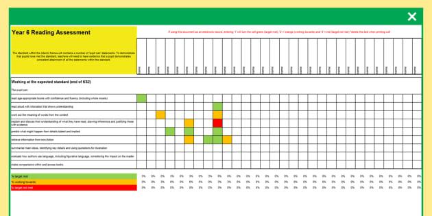 Y6 NC 2014 Interim Assessment Spreadsheet Reading, Writing, Maths, Science - spreadsheet, writing, maths, assessment, tracking, 2014, ks2