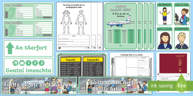 An tAerfort Aistear Pack Display Pack - Aistear Resources Pack,Irish