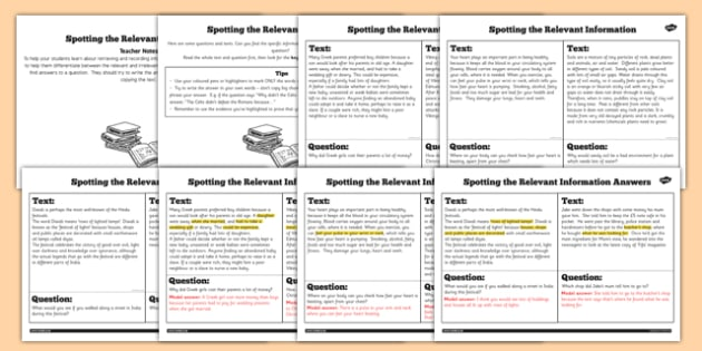 Retrieve and Record Relevant Differentiated Information Activity