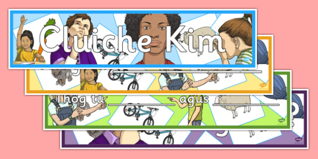 Cluiche Kim Display Banners Pack - gaeilge, games, vocabulary, irish, oral language, display, Cluiche Kim