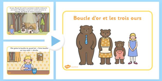 Histoire de boucle d'or PowerPoint Français - français, boucle d'or, histoire, powerpoint