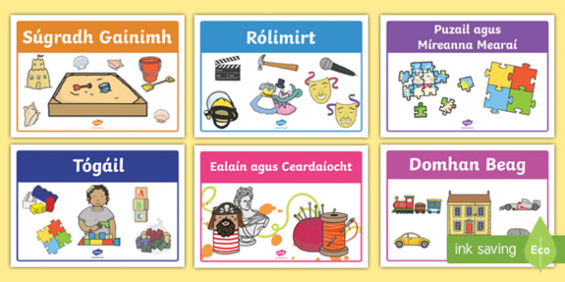 Irish Gaeilge Aistear Play Stations Display Pack