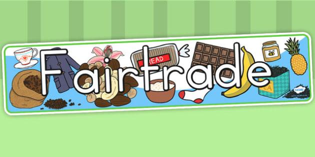 Fairtrade Display Banner - fair trade, food, header, display