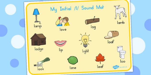 Initial 'l' Sound Mat - australia, initial l, sound, mat, l sound
