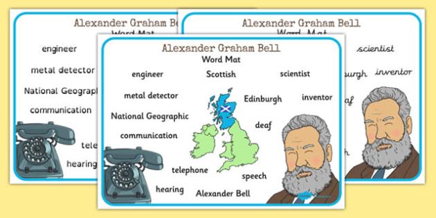 Alexander Bell Word Mat - alexander bell, word mat, word, mat