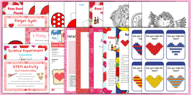 Childminder Valentine's Day Resource Pack - Hearts, Love Valentine