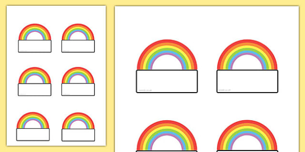 Editable Rainbow Labels - labels, rainbow, editable labels