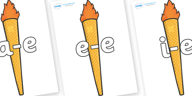Modifying E Letters on Torches - Modifying E, letters, modify, Phase 5, Phase five, alternative spellings for phonemes, DfES letters and Sounds