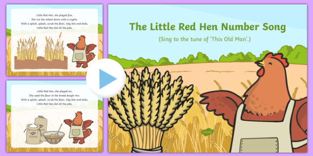 The Little Red Hen Number Song PowerPoint
