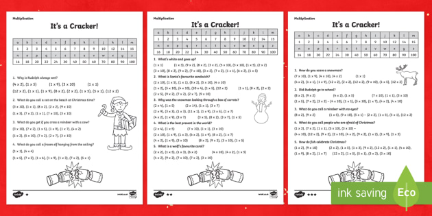 KS1 Multiplication Christmas Joke Activity