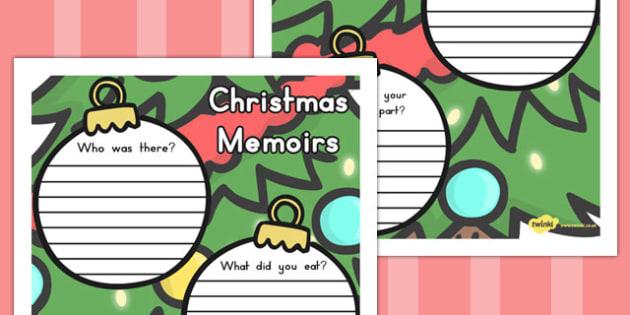 Christmas Memoirs Handwriting Lines - australia, christmas, write