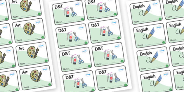 Jade Themed Editable Book Labels - Themed Book label, label, subject labels, exercise book, workbook labels, textbook labels