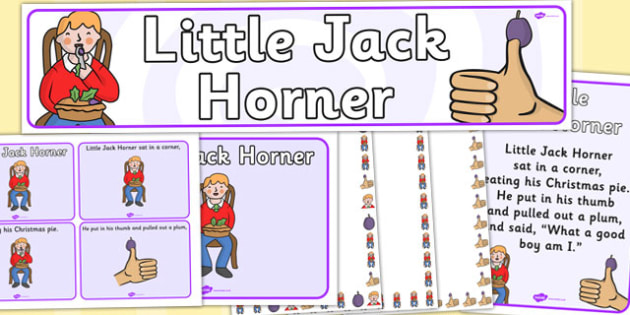 Little Jack Horner Resource Pack - little jack horner, resource pack, pack of resources, themed resource pack, little jack horner pack, nursery rhymes