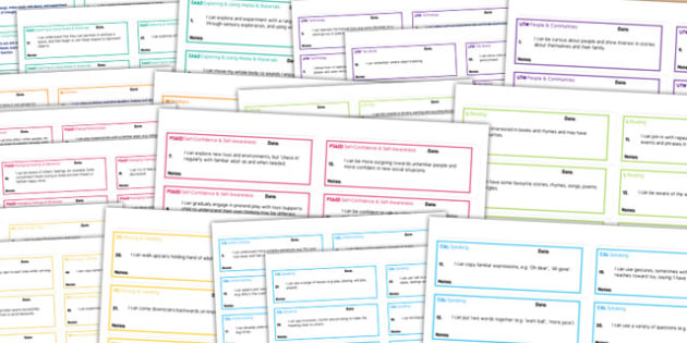 Early Years Outcomes 'I Can' Statements on Stickers Pack - pack