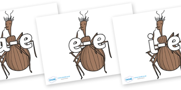 Modifying E Letters on Miss Spider to Support Teaching on James and the Giant Peach - Modifying E, letters, modify, Phase 5, Phase five, alternative spellings for phonemes, DfES letters and Sounds