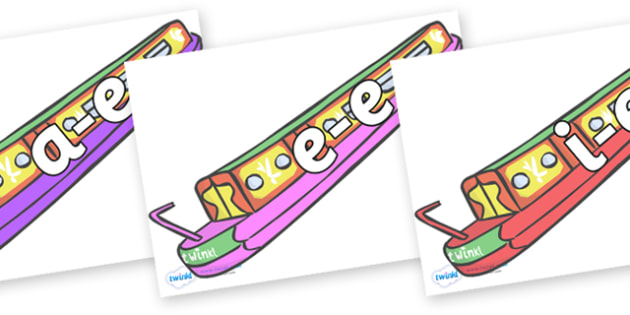 Modifying E Letters on Narrow Boats - Modifying E, letters, modify, Phase 5, Phase five, alternative spellings for phonemes, DfES letters and Sounds
