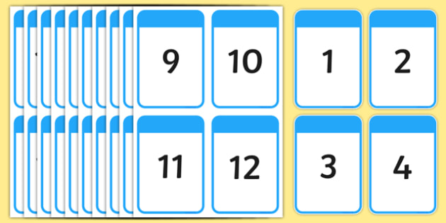 0-120 Digit Cards - digit cards, digit, cards, numbers, 1-20