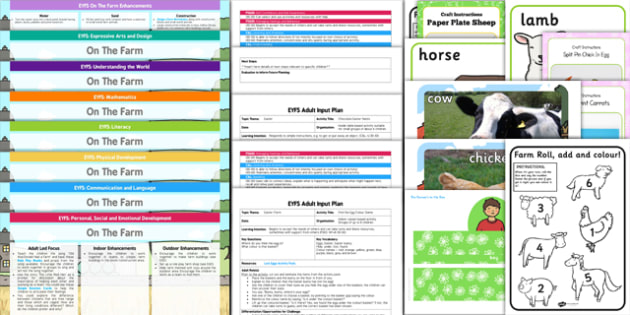 EYFS Farm Themed Bumper Planning Pack - eyfs, farm, bumper, plan, planning