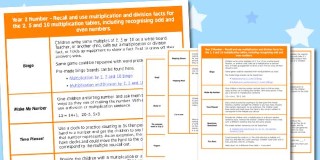 KS1 Multiplication and Division Starter Ideas - ks1, starter ideas, ideas