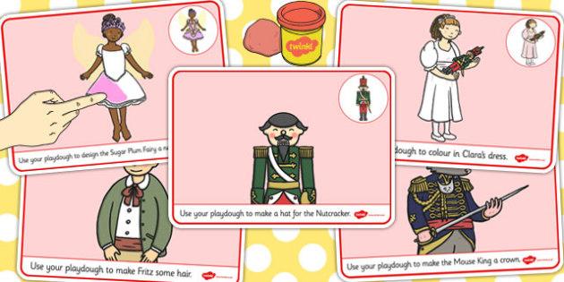 The Nutcracker Playdough Mats - nutcracker, playdough mat, mat
