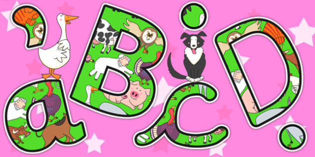 Themed Display Lettering to Support Teaching on Farmyard Hullabaloo - farm, letters