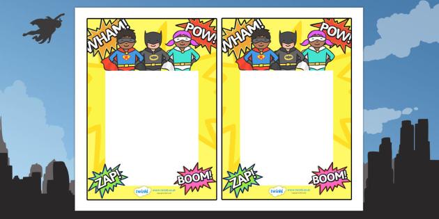 Editable Note From Teacher (Superhero Themed) - editable note from teacher, superhero themed, note from teacher, notes, note, comment, parent, teacher's, editable, superheroes, superhero
