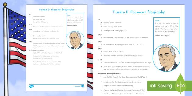 Franklin D. Roosevelt Fast Facts Fact File - American Presidents, American History, Social Studies, Barack Obama, Lyndon B. Johnson, Franklin D.
