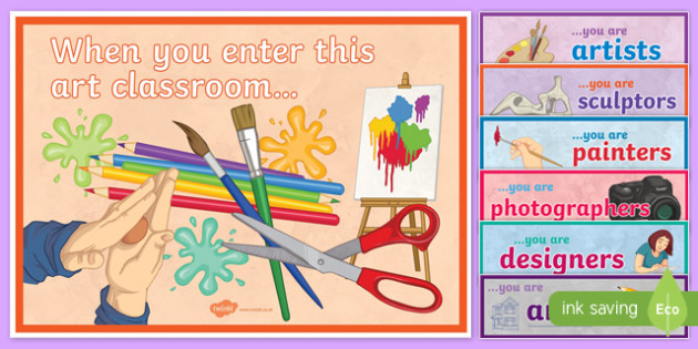 When You Enter This Art Classroom Display Pack - when you enter, art, classroom, display sign, display, poster, pack