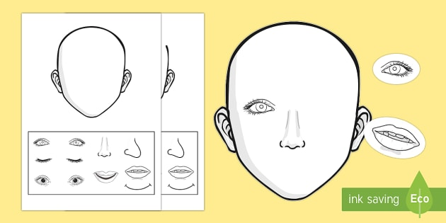Blank Faces Cut and Stick Activity - face, visage, blank, expression, cut and paste, craft, me, unique.
