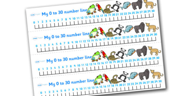 Jungle & Rainforest Number Line (0-30) - Jungle, Rainforest, Maths, Math, numberline, numberline display, vines, snake, forest, ecosystem, rain, humid, parrot, monkey, gorilla